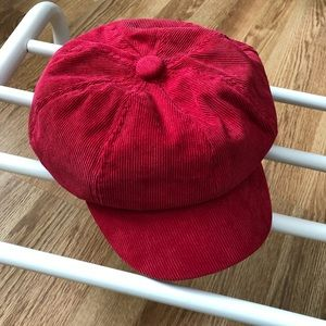 Accessories - Vintage Red Corduroy Fisherman's Cap